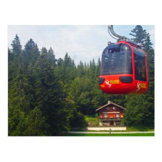 Aerial cableway at Pilatus Mountain Postcard