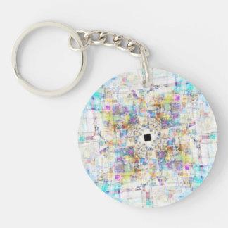 Aerial Cityscape Acrylic Key Chains