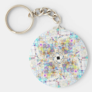 Aerial Cityscape Keychain