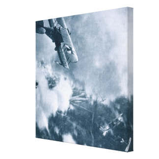 Aerial Combat on the Western Front, World War One, Canvas Print