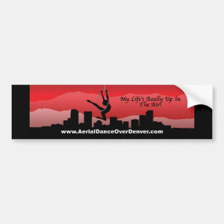 Aerial Dance Over Denver Bumper Sticker