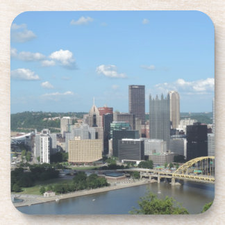 Aerial Downtown Pittsburgh Skyline Coaster