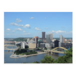 Aerial Downtown Pittsburgh Skyline Postcards