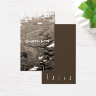 Aerial Grand Canyon Sepia Nature Crack Landscape Business Card