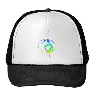 Aerial Hoop Foot to Head in Rainbow Hat