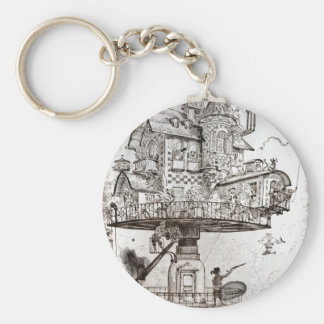 Aerial House Maison Tournante Key Ring