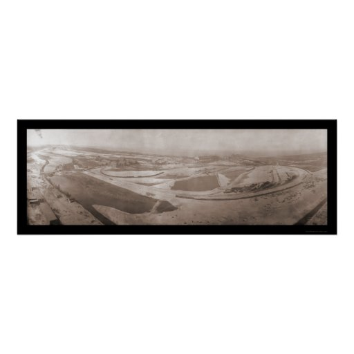 Aerial Indiana Steel Photo 1908 Poster