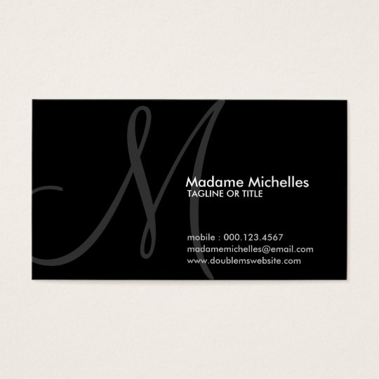 aerial initial business card