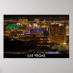 Aerial Las Vegas Strip at Night - High Altitude Poster