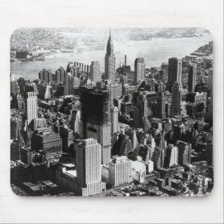 Aerial Manhattan Black & White Photograph Mouse Mat