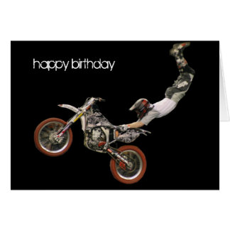 aerial moto-cross #1 greeting card