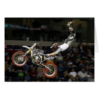 aerial moto-cross #1 with crowd card