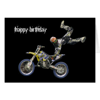 aerial moto-cross #2 greeting card