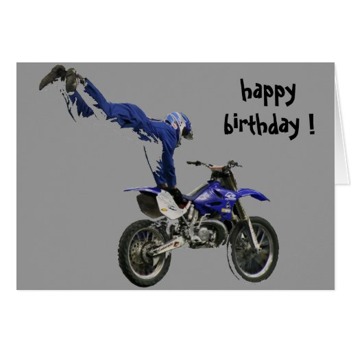 aerial moto-cross birthday greeting cards