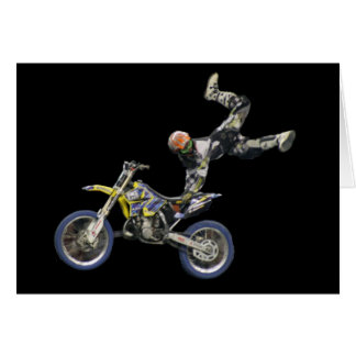 aerial moto-cross blank #2 card