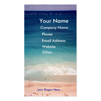 Aerial Ocean Aquamarine Blue Beach Business Card