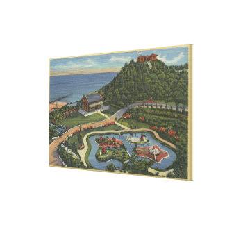 Aerial of Bernheimer's Oriental Garden Canvas Print