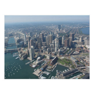Aerial of Boston Skyline Poster