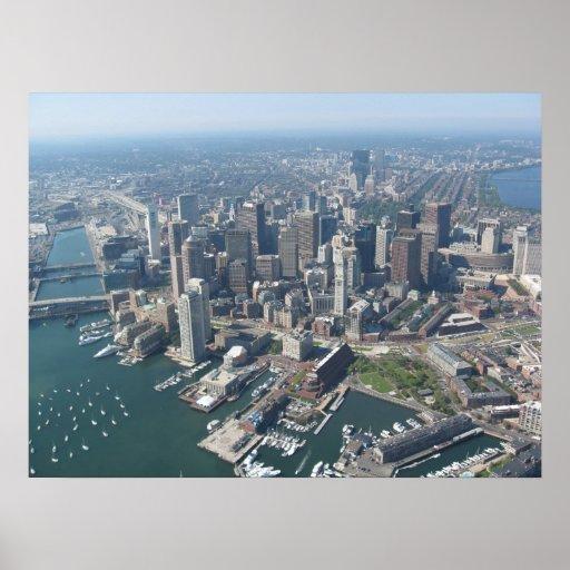 Aerial of Boston Skyline Poster