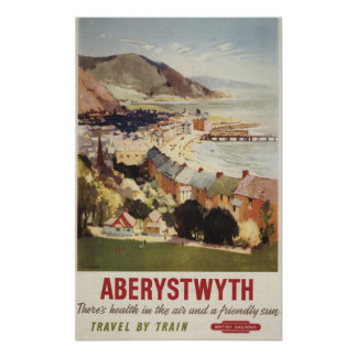 Aerial of Coast British Railways Poster