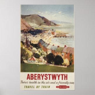 Aerial of Coast British Railways Poster