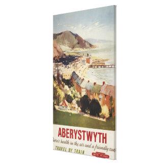 Aerial of Coast British Railways Poster Canvas Print