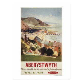 Aerial of Coast British Railways Poster Postcard