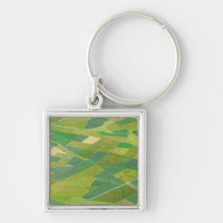Aerial Of Farmlands In Ethiopia Key Ring