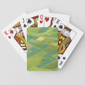 Aerial Of Farmlands In Ethiopia Playing Cards