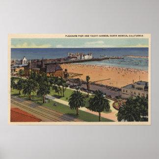 Aerial of Pleasure Pier Yacht Harbor Print
