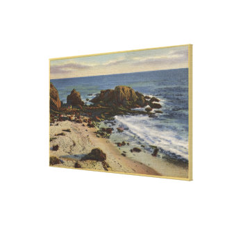 Aerial of the Rocky Coast Gallery Wrap Canvas