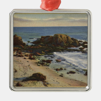 Aerial of the Rocky Coast Christmas Tree Ornaments