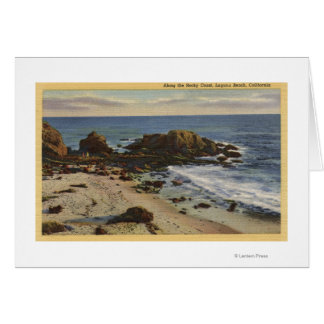 Aerial of the Rocky Coast Greeting Card