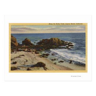 Aerial of the Rocky Coast Postcard