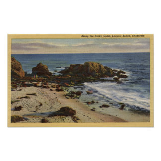Aerial of the Rocky Coast Posters