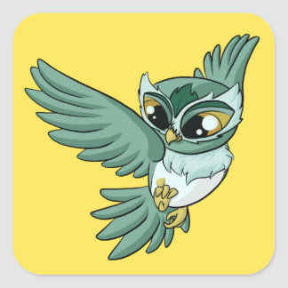 Aerial Owl! Square Sticker