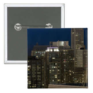 Aerial panoramic view of buildings in Chicago's 15 Cm Square Badge