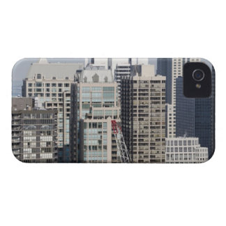 Aerial panoramic view of buildings in Chicago's 2 iPhone 4 Cases