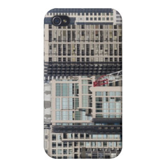 Aerial panoramic view of buildings in Chicago's 2 iPhone 4 Cover
