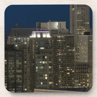 Aerial panoramic view of buildings in Chicago's Drink Coaster