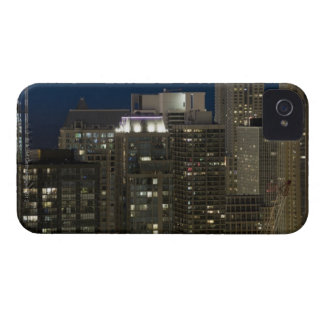Aerial panoramic view of buildings in Chicago's iPhone 4 Case-Mate Cases