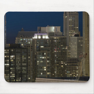 Aerial panoramic view of buildings in Chicago's Mouse Mat