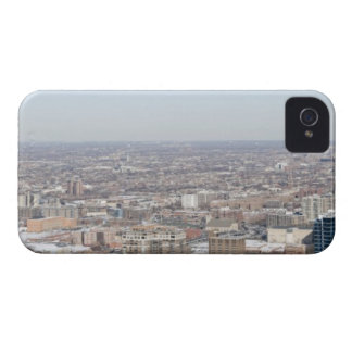 Aerial panoramic view of Chicago's north and iPhone 4 Case