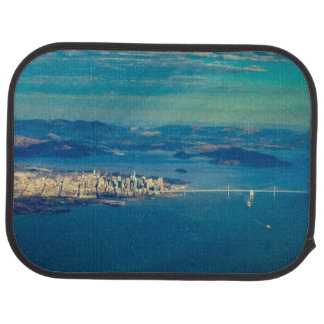 Aerial photograph of the San Francisco Bay Car Mat