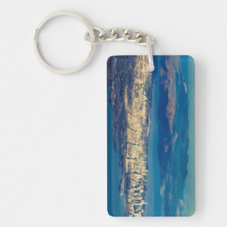 Aerial photograph of the San Francisco Bay Double-Sided Rectangular Acrylic Key Ring