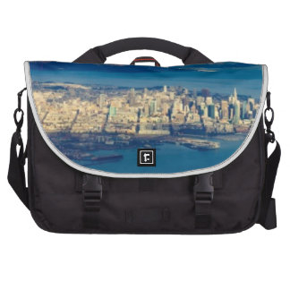 Aerial photograph of the San Francisco Bay Laptop Messenger Bag