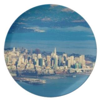 Aerial photograph of the San Francisco Bay Plates