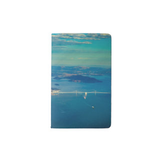 Aerial photograph of the San Francisco Bay Pocket Moleskine Notebook