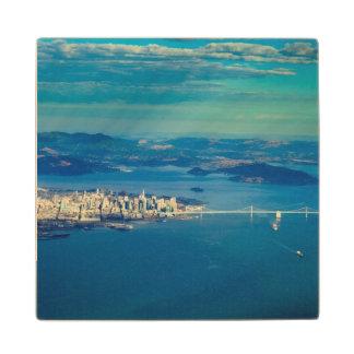 Aerial photograph of the San Francisco Bay Wood Coaster