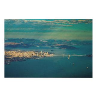 Aerial photograph of the San Francisco Bay Wood Print